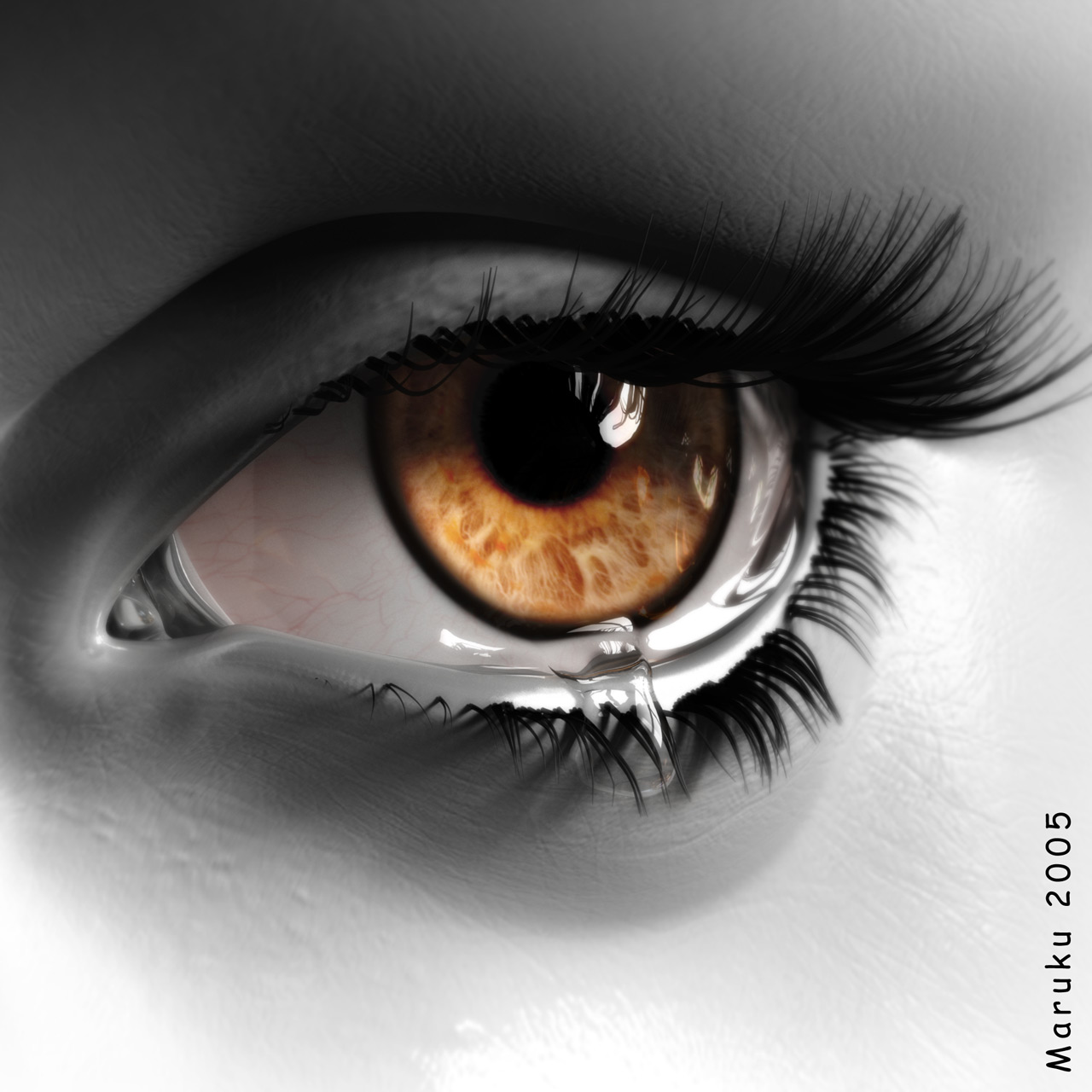 oeil qui pleure